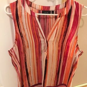 Beautiful pink striped silky tank